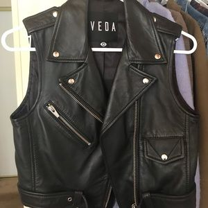 Leather vest (soft leather)